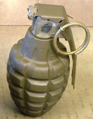 U.S. WWII Pineapple Fragmentation Grenade. Ref. #Y.1a